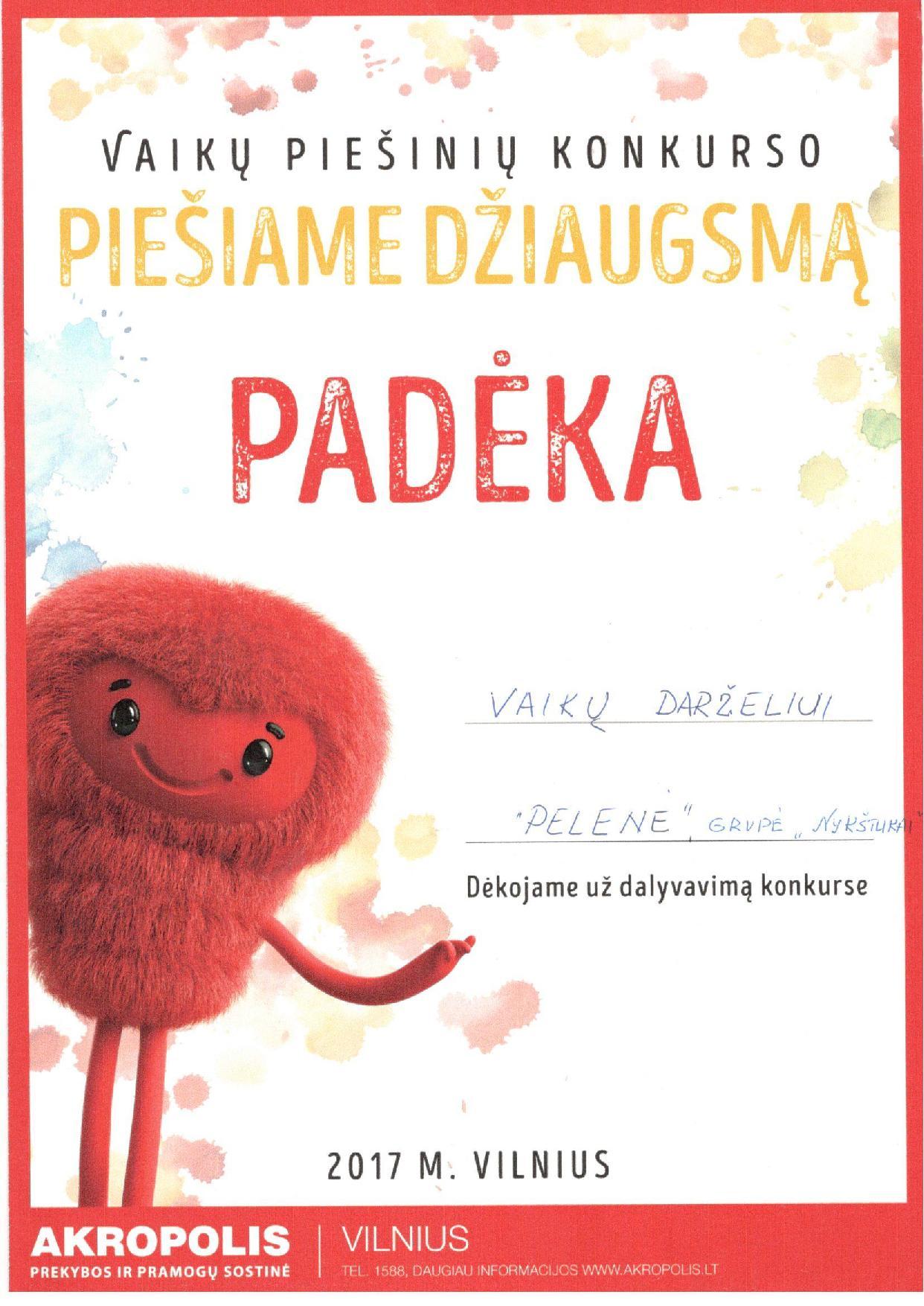 2017 Piesiame Dziaugsma PADEKA