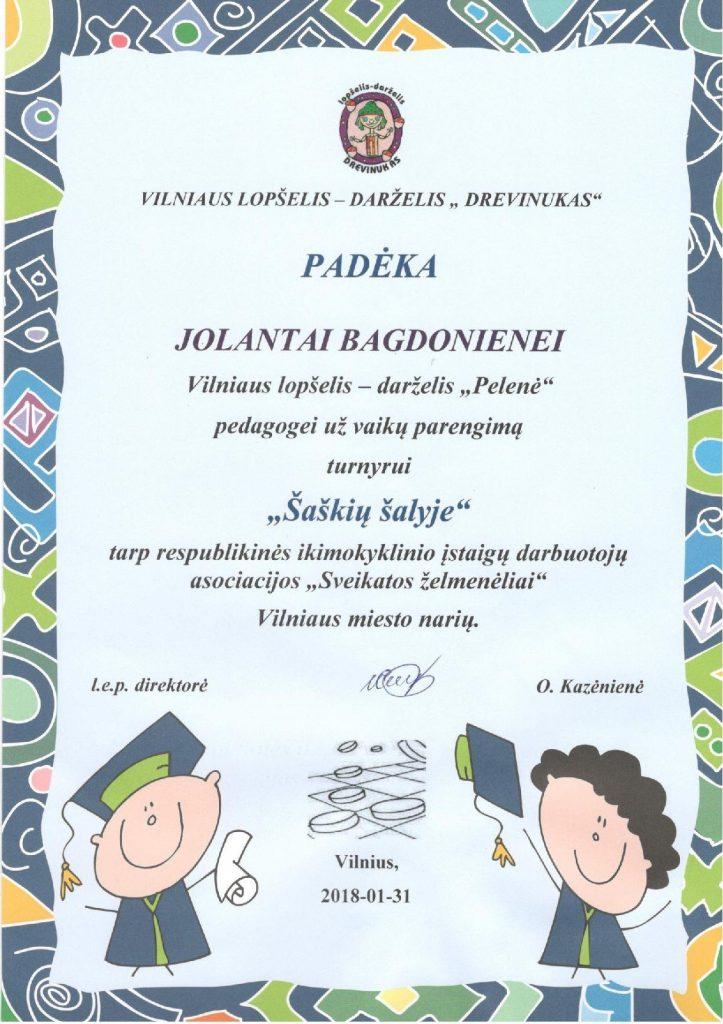 2018 Padeka Jolantai (Saskiu salyje)