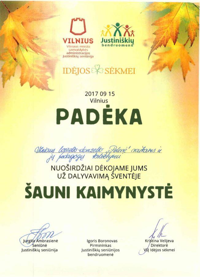 20170915 Padeka Sauni kaimynystė